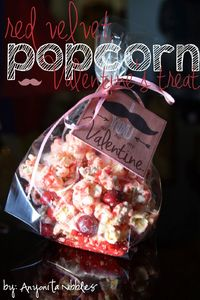 Red Velvet Popcorn Valentine's Treat