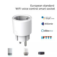 Wifi Smart Plug Socket Power Monitor EU Plug Voice Remote Timer Outlet Works With Google Home Alexa IFTTT APP