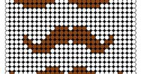 Mustaches Perler Bead Pattern, for Christmas ornaments. ;)
