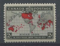 Canada #85 (SG#166) 2c Pale Lavender, Carmine & Black 1898 Christmas Extra Islands VF-75 NH $71.99