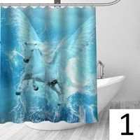 Water pegasus shower curtain