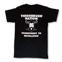 """THIGHBRUSH® NATION - """"Commitment to Sexcellence"""" - Men's T-Shirt - Black and White"""