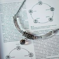 Clear Glass Moon pendant with glass ball, half moon, Boho Necklace $42.00