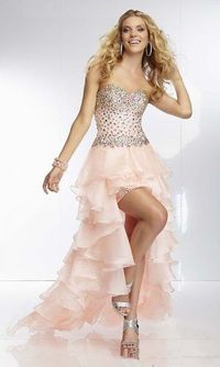 2014 High Low Sequins Top Ruffled Seashell Dress
