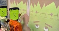 """Halloween math games (and a little FREEBIE)! My class got the biggest kick out of """"FrankenLine""""!"""