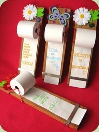 To Do List, Grocery List, etc on adding machine tape paper from office supply store.k these are the cutest things ever