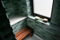 recycled porcelain Eco-Gres tile, classic mosaic glass tiles -So green..