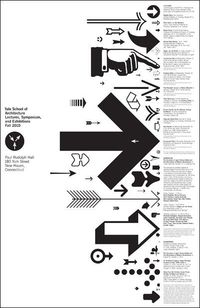 Iconography poster for the Yale School of Architecture.