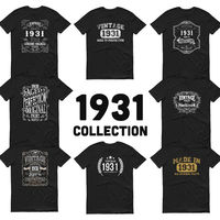 1931 Birthday Gift, Vintage Born in 1931 t-shirt Unisex 89th Birthday shirt for him her Made in 1931 T-shirt, 89 Year Old Birthday Shirt $19.99