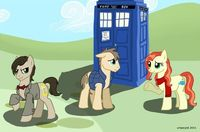 72720 - Amy Pond Doctor Whoof Doctor Whooves Eleventh Doctor Matt Smith Rory Williams doctor who ponified tardis.png (680�—448)