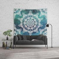 Aqua Spirit Mandala Wall Tapestry. #turquoise #teal #blue #green #tapestry #walltapestries #tapestries #walltapestries #wallhangings #walldecor #wallart #mandala #mandalas #mandalatapestry #mandalatapestries #mandalaart #spiritual #spirituality #zen #yog...