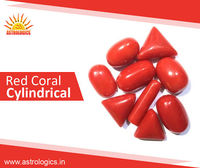 Red Coral Cylindrical   The Red Coral (Moonga, Praval) Gemstone is the Gemstone of Planet Mars (Mangal Grah) as per Vedic Astrology. The Planet Mars is the planet of energy, strength, blood circulation and ambition and the Moonga is worn...