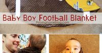 Make Your Own Football Baby Blanket. Customize it to your favorite team!