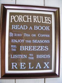 Sounds like patio rules here, includes stitching and sometimes a glass of red
