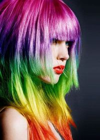 Another great shot of vibrant hair. Crazy to think I'd love something like this with the clothes I'm sharing...but that's me in a nutshell.