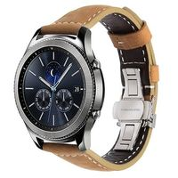 Italian Genuine Leather 22mm Samsung Gear S3 Classic Frontier Gear 2 Neo Live $27.99