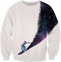 Surfing the universe Sweatshirt $75.00