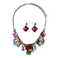 Shapes and Stones Necklace Set - Multi