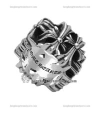 Popular Chrome Hearts Cemetery Square Silver 925 Ring