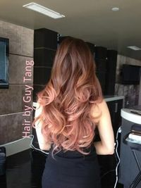 Rose gold ombre hair style...don't want Ombré but the tip color is gorg