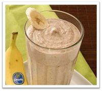 Chunky Monkey Shakeology Recipe -1 scoop chocolate Shakeology 1/2 cup vanilla almond milk (or skim milk) 1/2 cup water 1/2 banana (best if frozen�€�I don't know why but it's true) 1 tbsp natural peanut butter 1/3 cup grou...