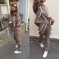 $10.35 Aliexpress - 2019 New Fashion Tracksuit Long Sleeve Thicken Hooded Sweatshirts 2 Piece Set Casual Sport Suit Women Tracksuit Set CA6983. Buy it from Aliexpress.com