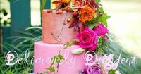 Rainbow Wedding Cake with live flowers, isn't this gorgeous?!?!?!?