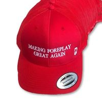 "THIGHBRUSH® - ""Making Foreplay Great Again"" - Trucker Snapback Hat - Red"
