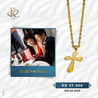 You will love the simplicity of this shinning gold cross necklace made with 18K gold.