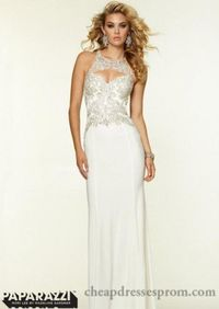 Vanilla Long Beaded Formal Embroidery Dresses by Mori Lee 97067