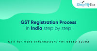 Simplify Tax works for GST Registration Process in India step by step for our clients. Every Person/business is granted a single registration under GST in a state/UT. Know more Call: +91-931-303-2792 or visit https://www.simplifytax.in/gst-registration