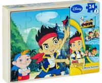 Disney Jake and the Never Land Pirates 3 Wooden Puzzles Disney wooden character puzzles featuring imagery of Jake; your little one can have hours of fun with these 3 puzzles in one box. Includes 3 puzzles. 72 pieces. Size of completed puzzle 4.5 x 31cm. D...