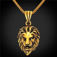 Gold Plated Lion Necklace $27.96