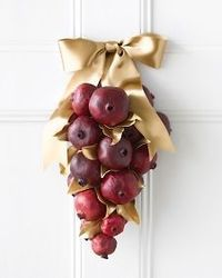 Pomegranate Door Display with Gilded Leaves