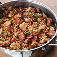 Cajun Seasoning and andouille sausage bring the flavors of the Louisiana bayou country to this easy one-pot meal.