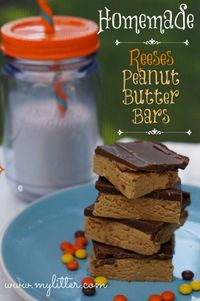 Homemade Reeses peanut butter bars