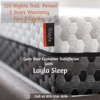 Layla Sleep mattress are copper based, it provides you a cooling effect, firmness, support and has antimicrobial properties. Layla Sleep provides a trial period to their customers included warranty and returns and provide customer satisfaction. To know mo...