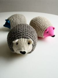 knit hedgehogs-free instructions