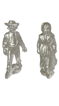 Wilton Armetale Pewter Amish Figurines Man and Woman | Pilgrams | Dutch | Amish | Early Settlers $39.99