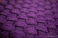 Free Pattern: Puffy Basketweave Baby Blanket by Cathy Waldie