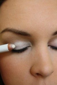 Awesome Tip! Color your eyelid with white eyeliner as an eye shadow base. Your eyeshadow color on top will POP and look so much brighter!