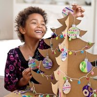 DIY corrugated cardboard Christmas tree.