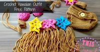 Crochet Patterns Galore - Baby Girl Hawaiian Outfit