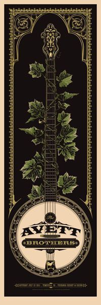 The work of Ken Talor: The Avett Brothers Gig Poster