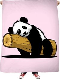ROFB Sleepy Panda Fleece Blanket $65.00