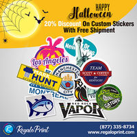 20% Discount On Custom Stickers with Free ShipmentVisit RegaloPrint.Com