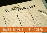 Need something to keep the kids busy today or tomorrow? I made this simple Thankful from A to Z printable for my girls, and thought your kids might enjoy it, to