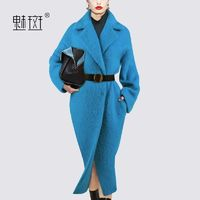 2017 long sleeve wool coat new slim long woolen cloth women's autumn and winter coats women - Bonny YZOZO Boutique Store