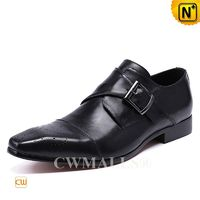 CWMALLS® Canberra Men Leather Single Monk Strap Loafers CW708125 [Patented Product, Global Free Shipping]