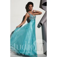 Mermaid Studio 17 12449 - Plus Size Chiffon Open Back Dress - Customize Your Prom Dress